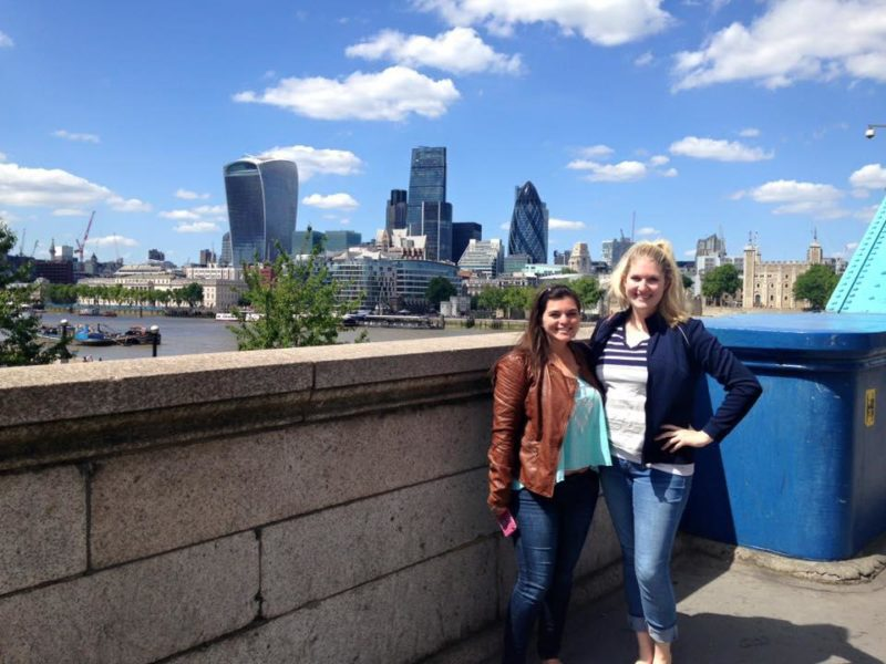 Kelly and I with the London skyline